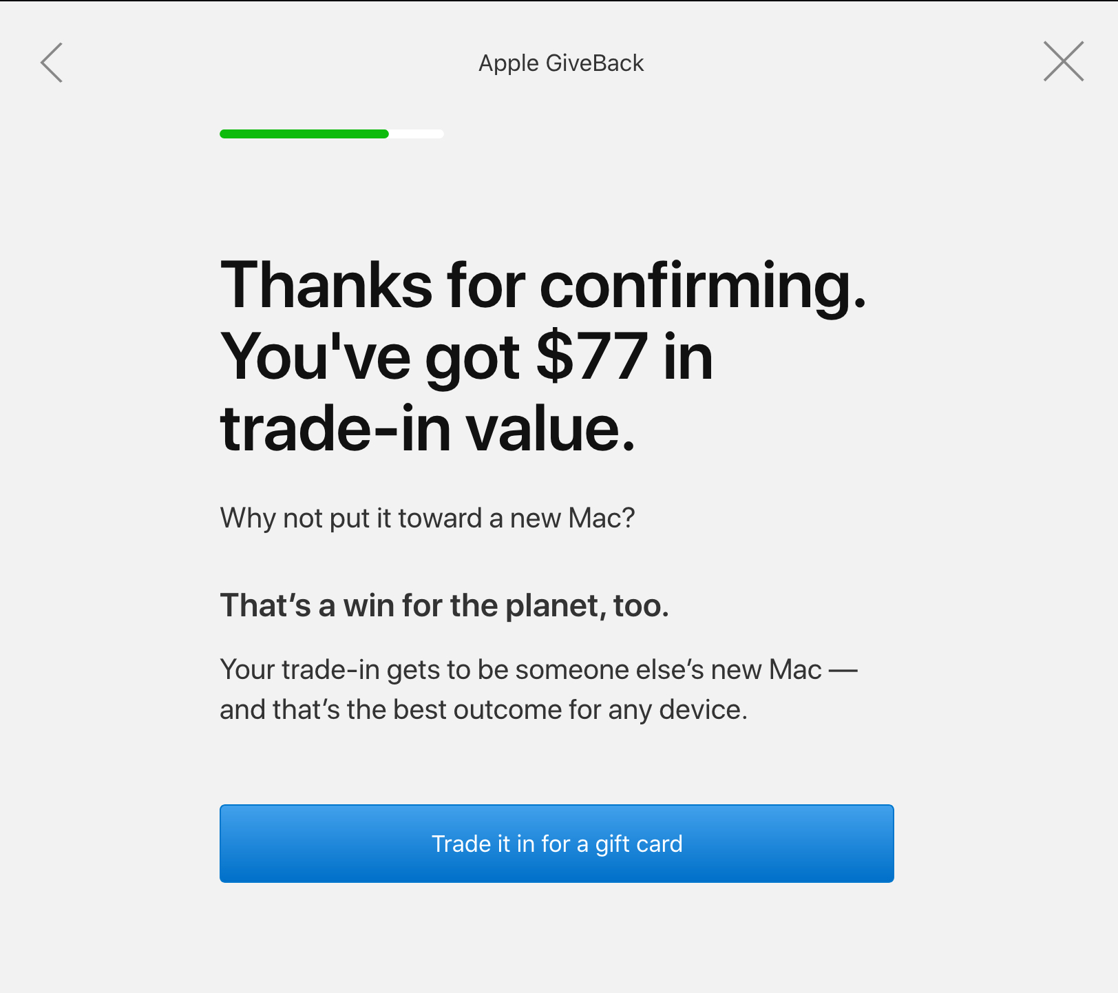 Apple GiveBack Trade-In Value