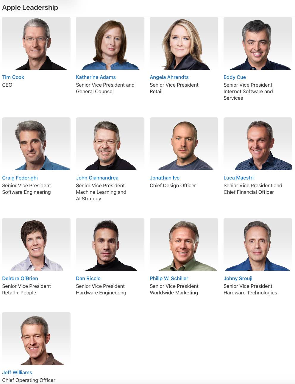 Apple has been reshuffling its executive team as it changes