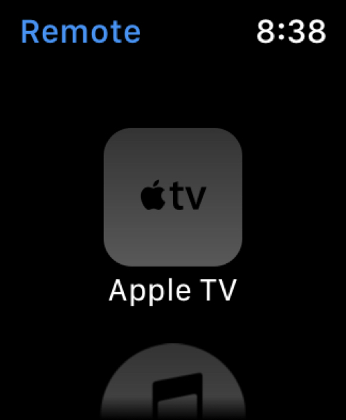 Apple TV on Remote App Apple Watch