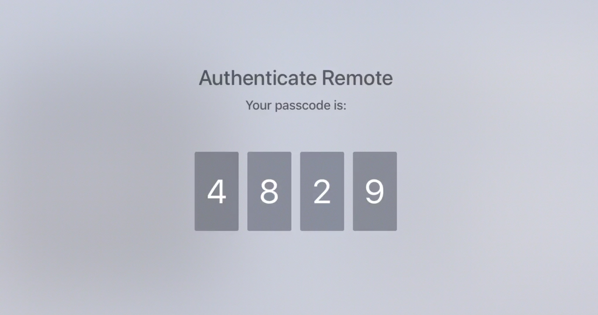 Authenticate Remote from Apple TV to Watch