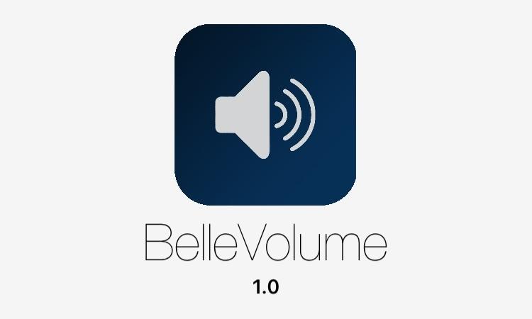 BelleVolume: a beautiful volume HUD replacement for jailbroken iOS