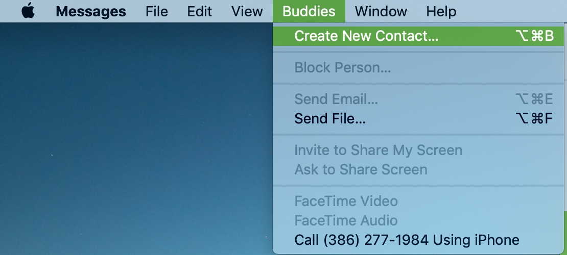 Create Contact Messages Sender Mac