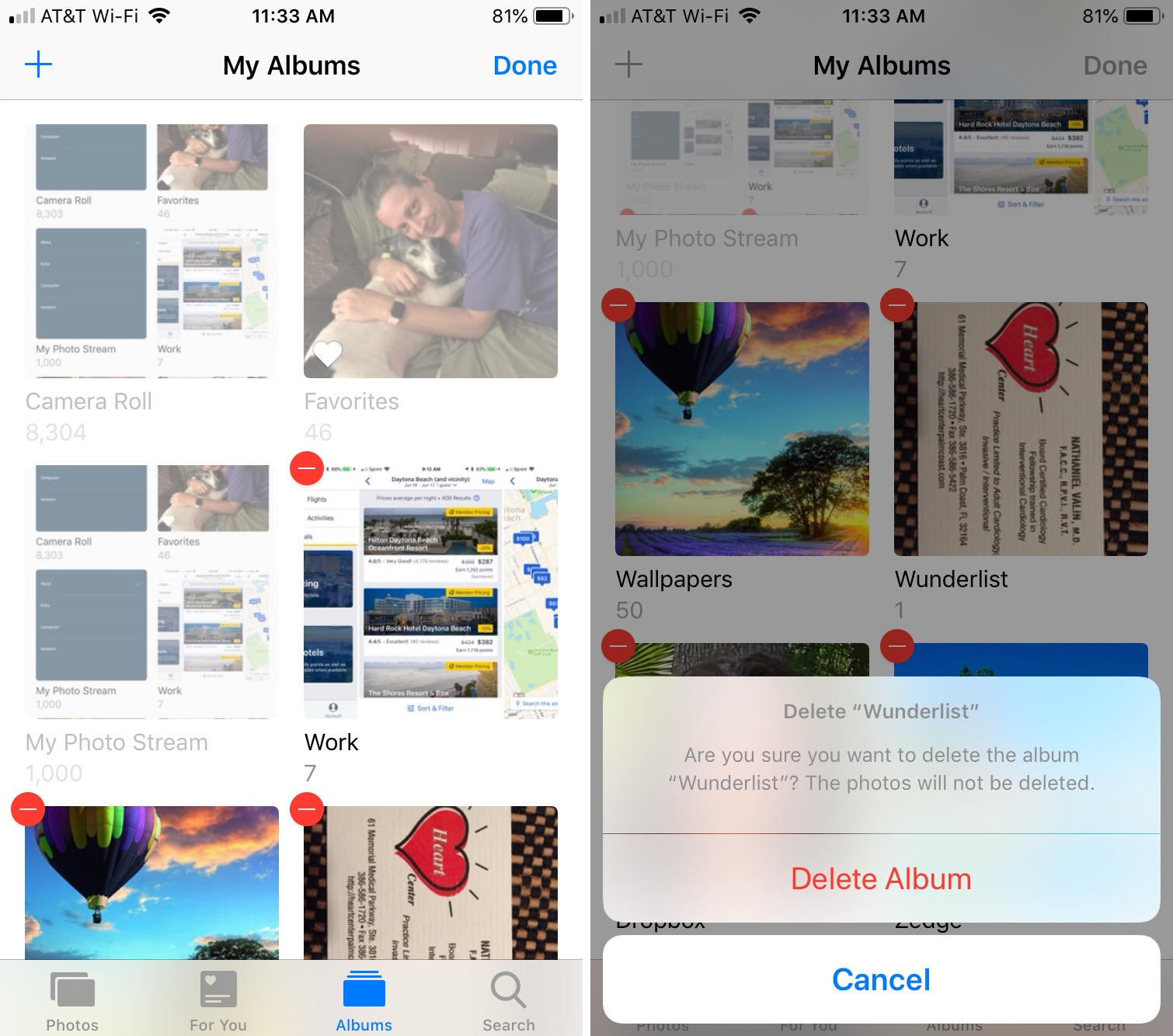 Delete Photo Albums on iPhone