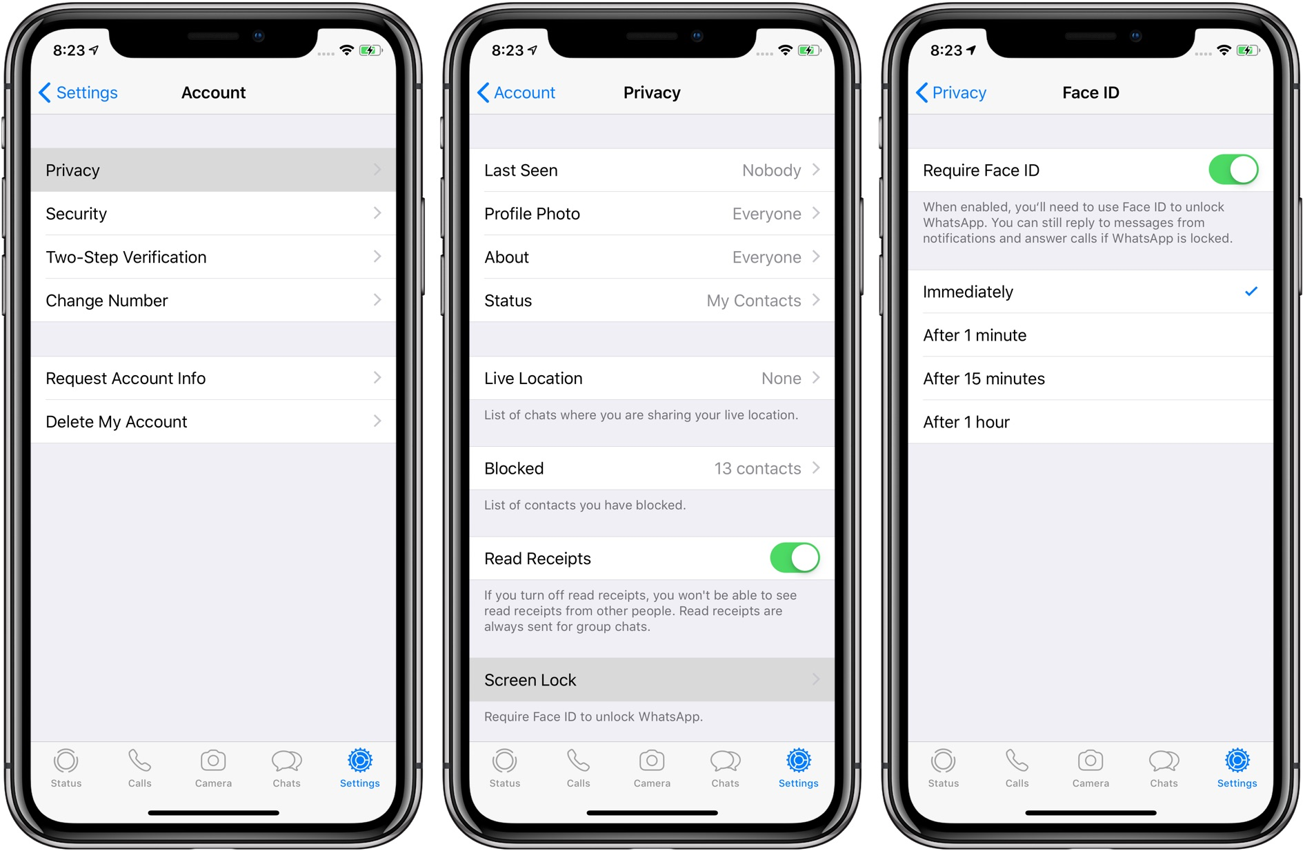 How to require Face ID to protect your private conversations on WhatsApp and unlock the app