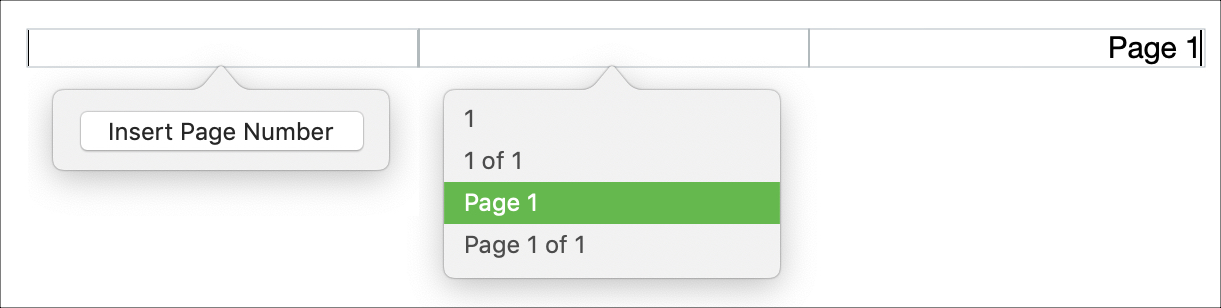Insert Page Numbers Pages on Mac