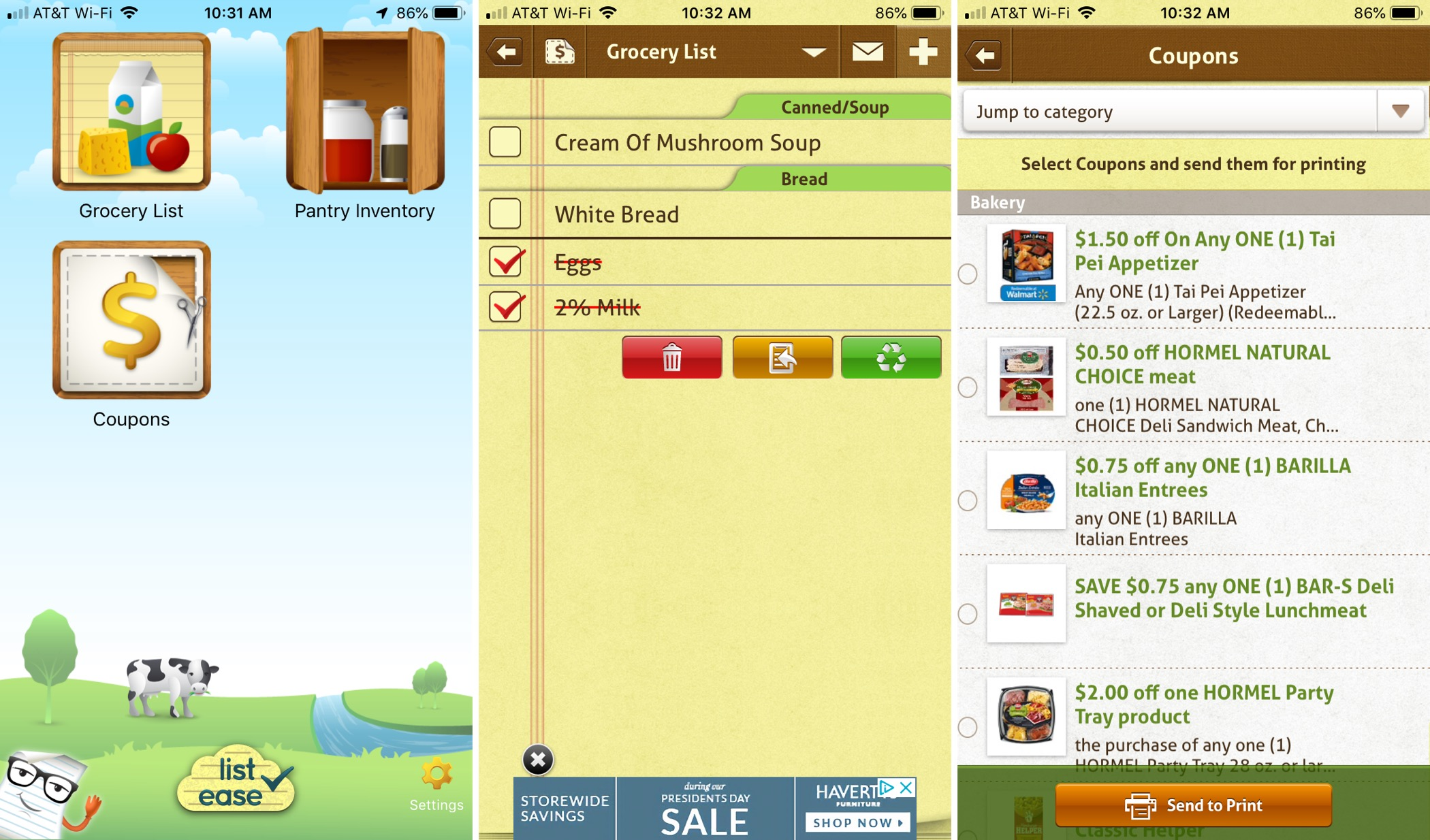 Shopping List Ease Groceries App for iPhone