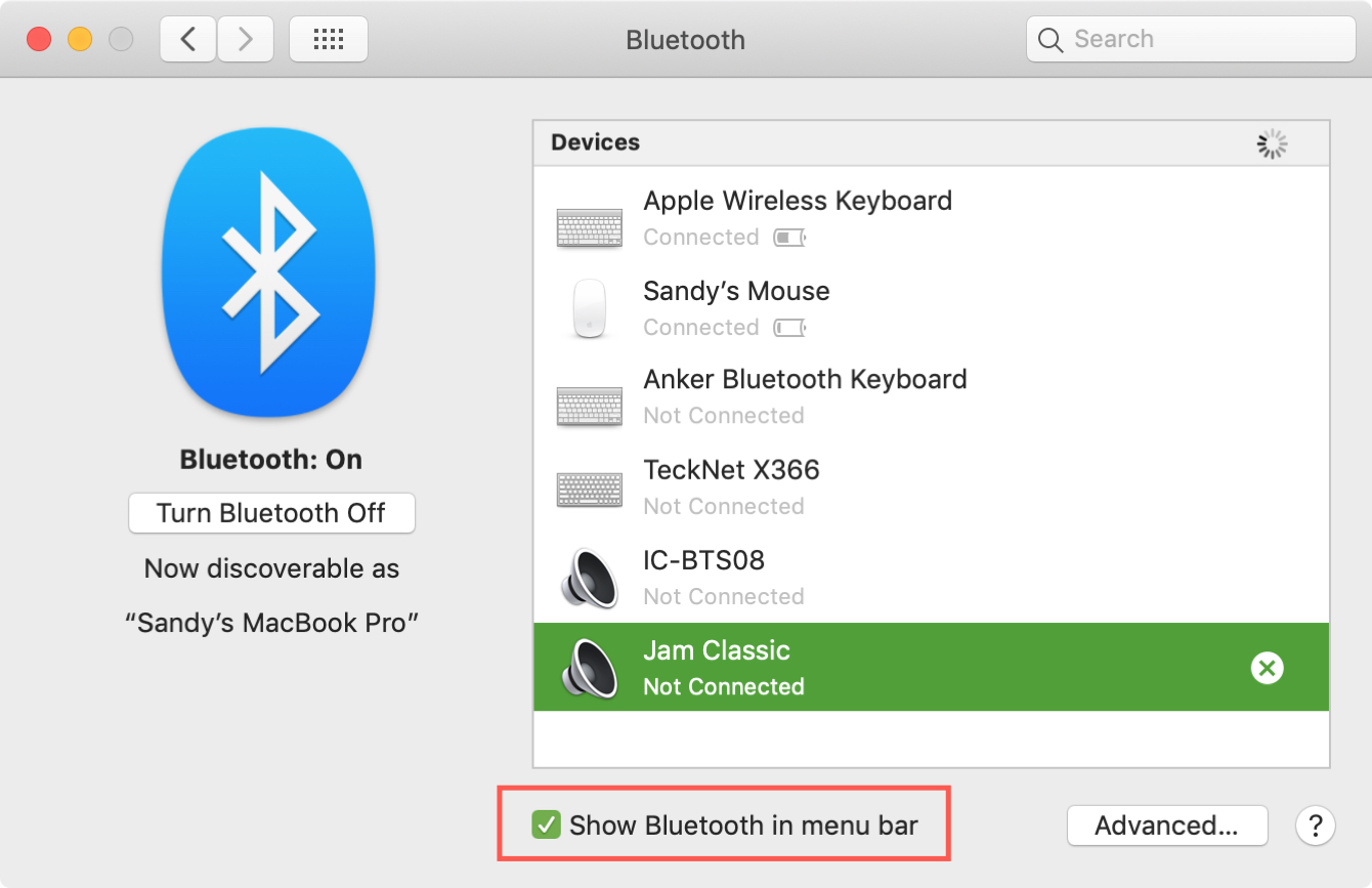 How to check the battery levels of connected Bluetooth