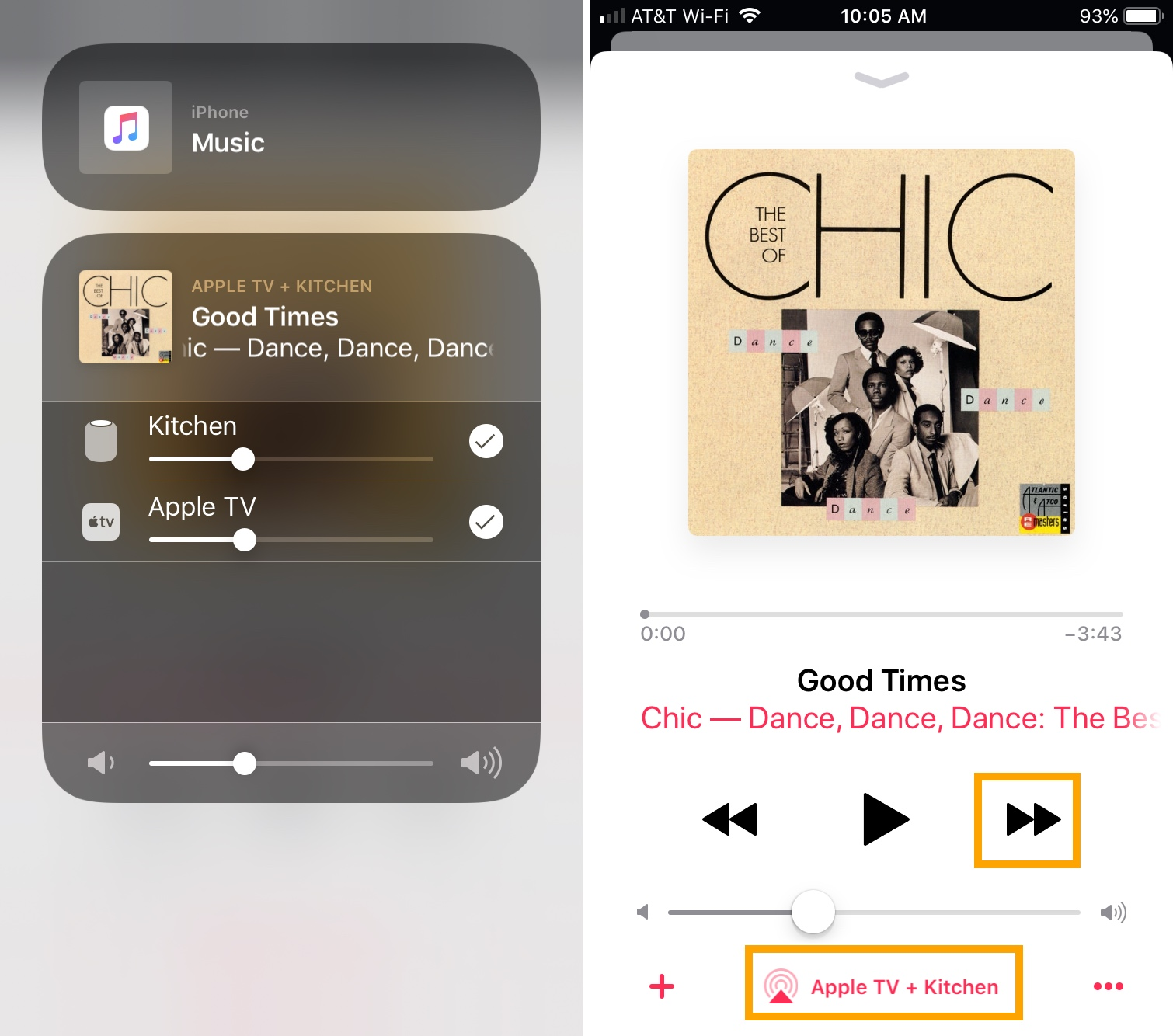 Songs Playing Next Apple TV HomePod from Music