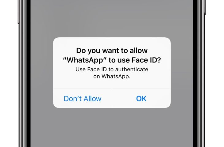 Require Face ID to unlock WhatsApp