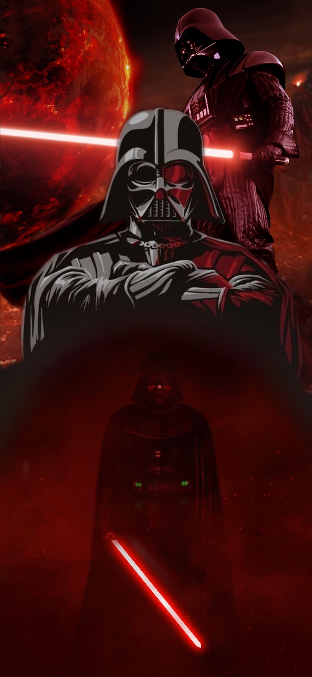 darth vader star wars iphone X wallpaper by iamjoeya