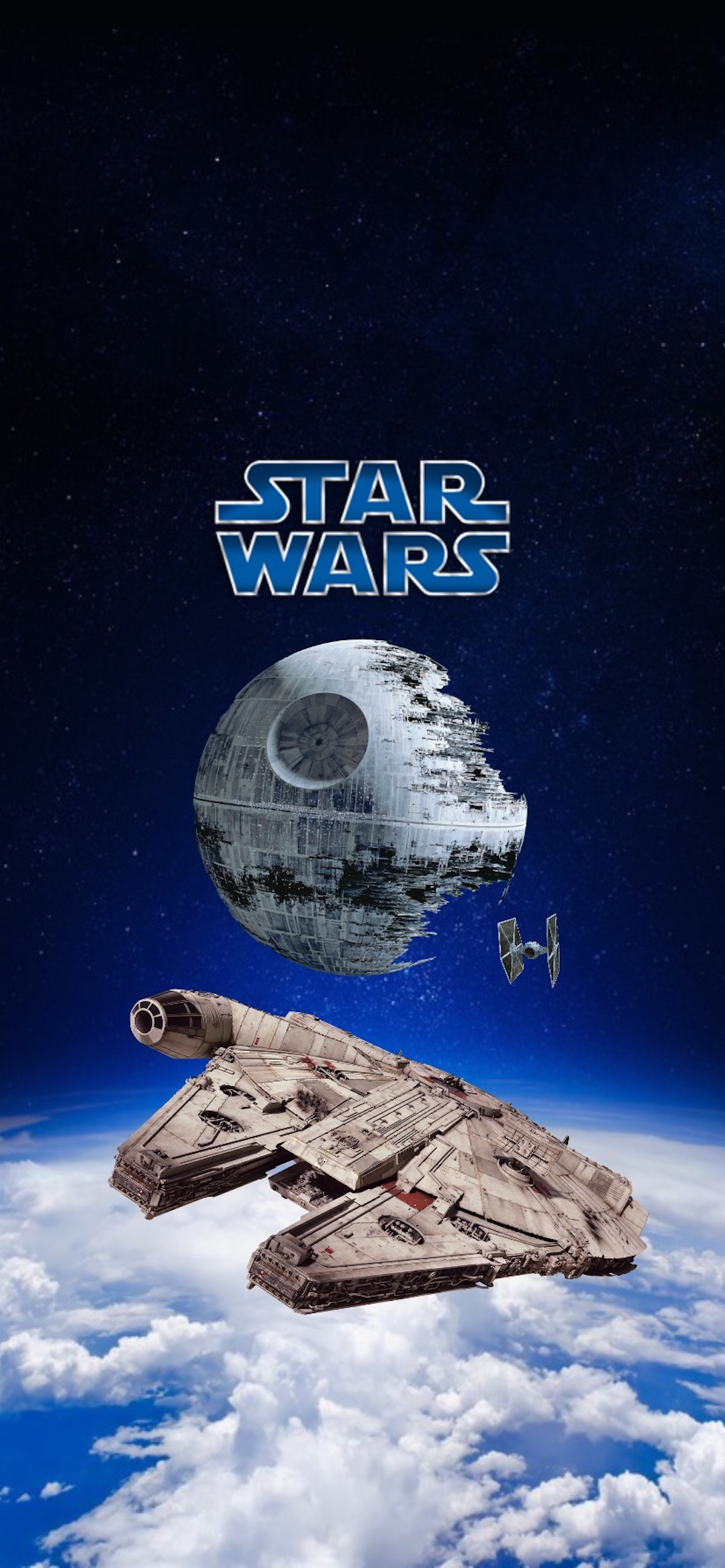 falcon star wars iphone X wallpaper by iamjoeya