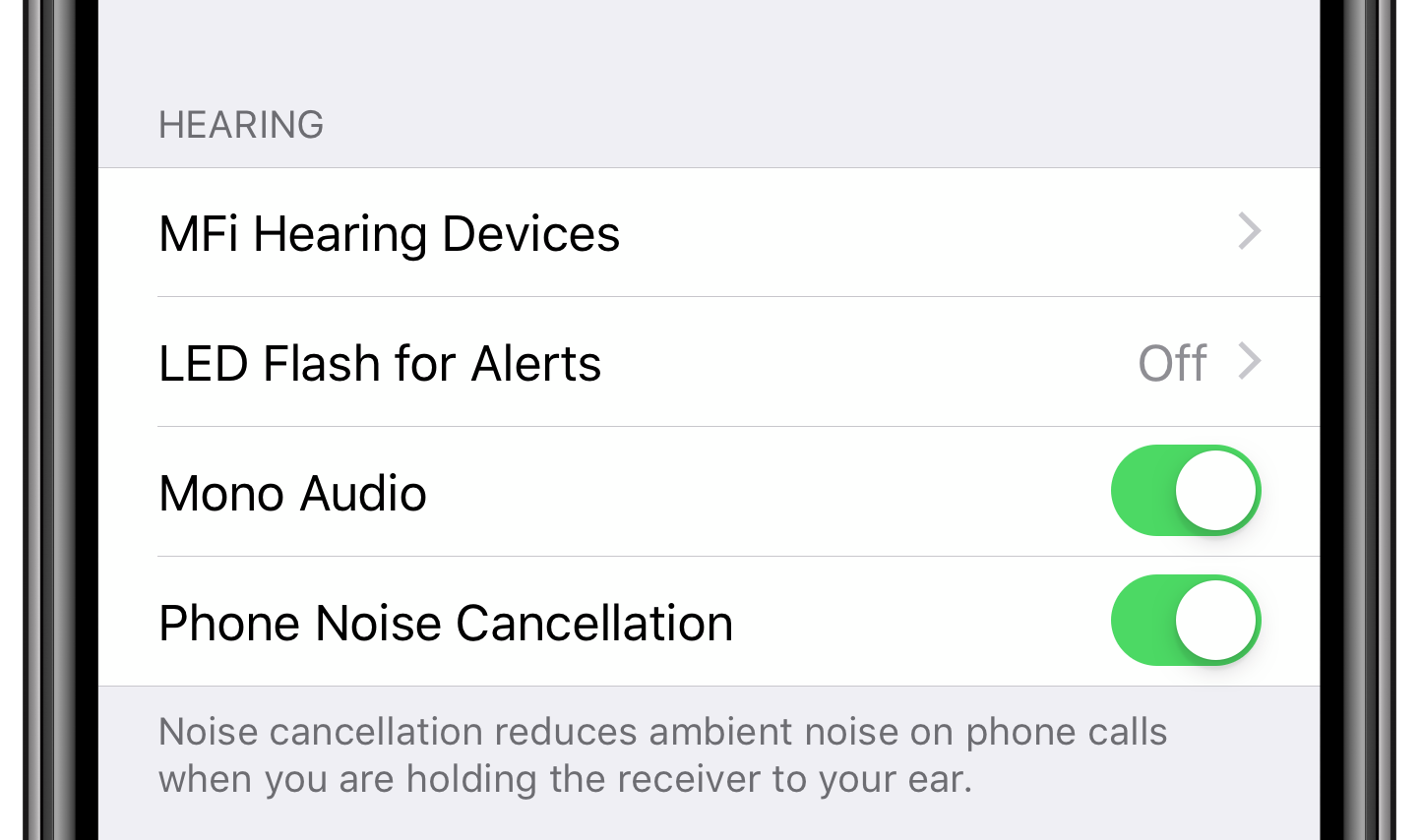 how to enable AirPods mono audio  on iPhone