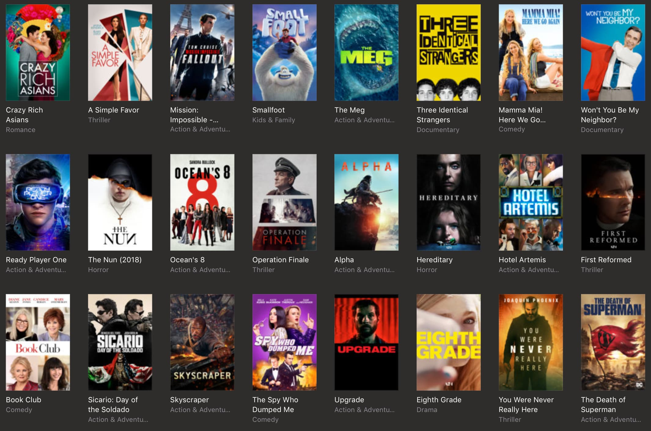 9bff2024d18 Apple on Tuesday updated their iTunes Store with new discounts on movies  and other media. Among the deals are recently released movies like Crazy  Rich ...