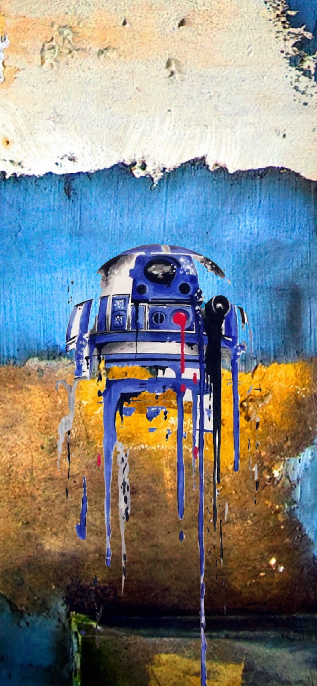 r2d2 b star wars iphone X wallpaper by iamjoeya