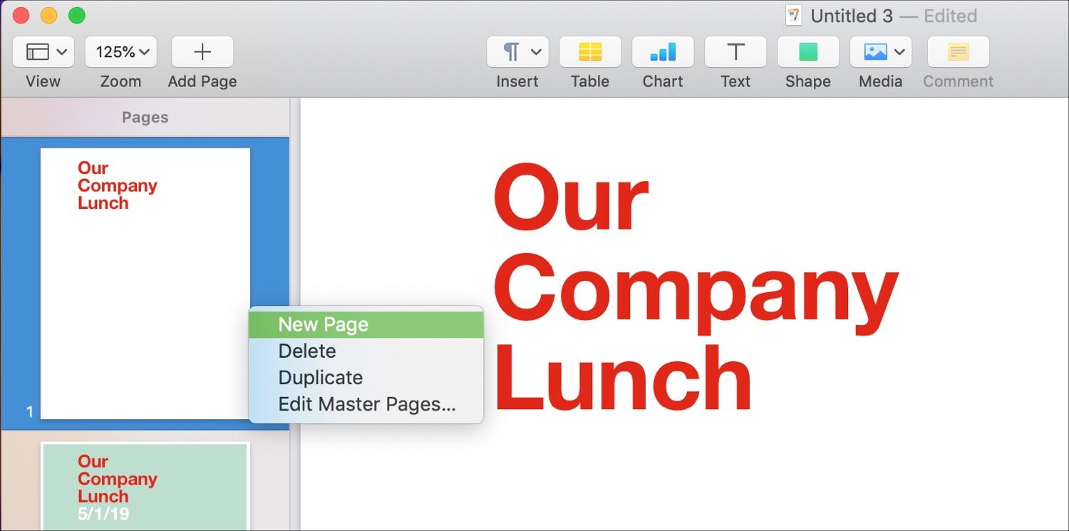 Add Pages in Page Layout Mac