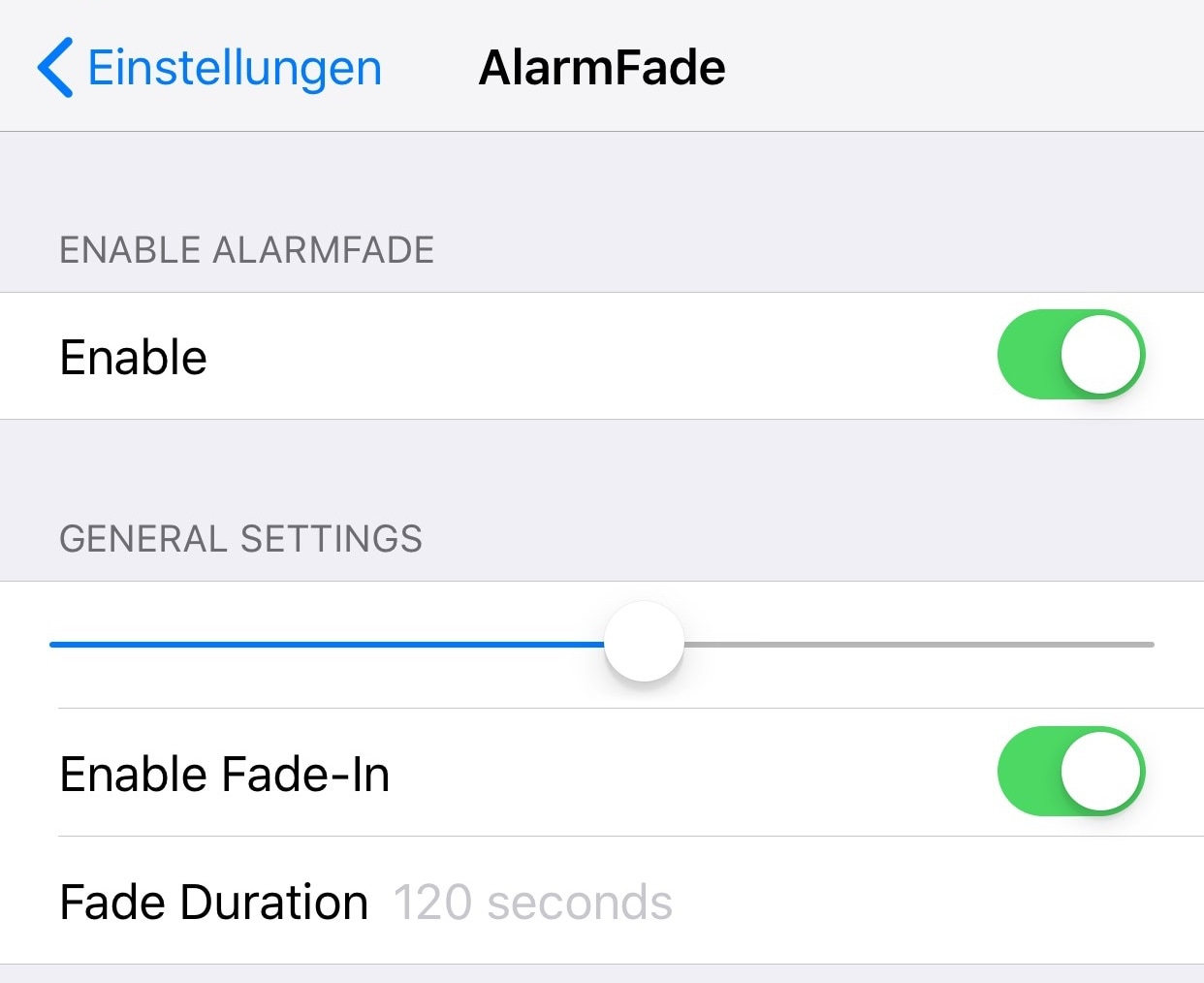 AlarmFade makes waking up to morning alarms on your iPhone