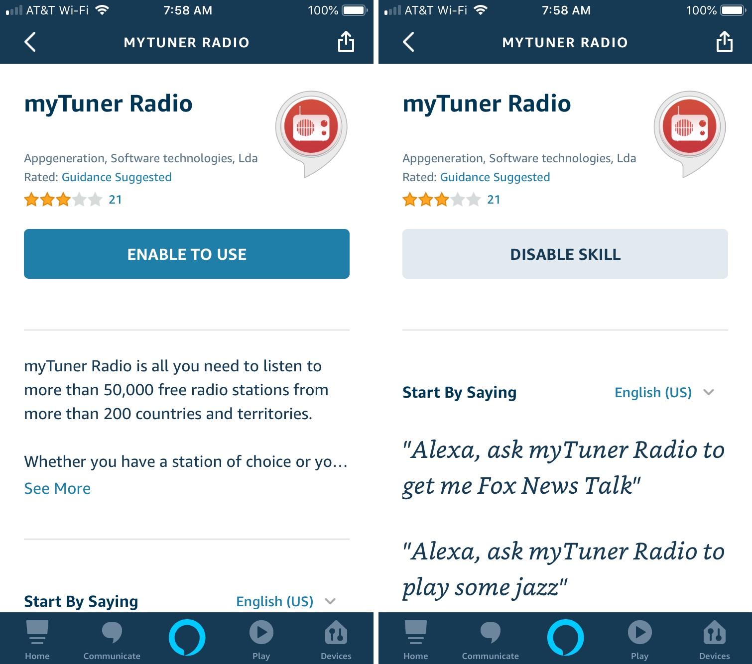 Alexa añade servicios de música para iPhone