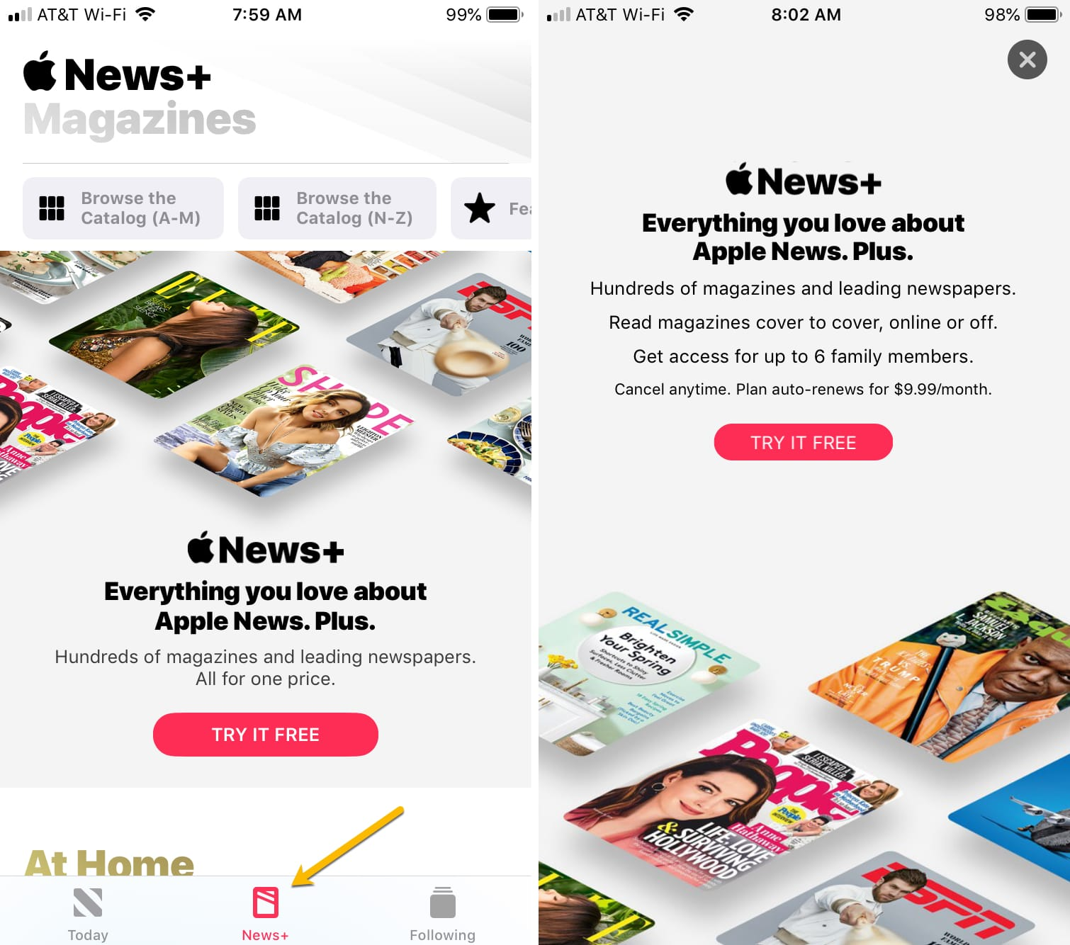 Apple News Plus Subscribe iPhone