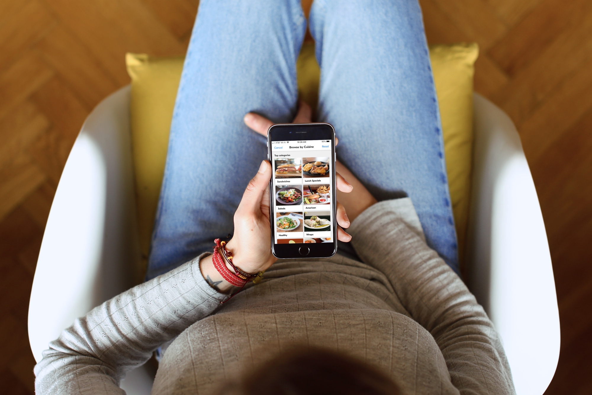 Best Food Delivery apps - GrubHub iPhone