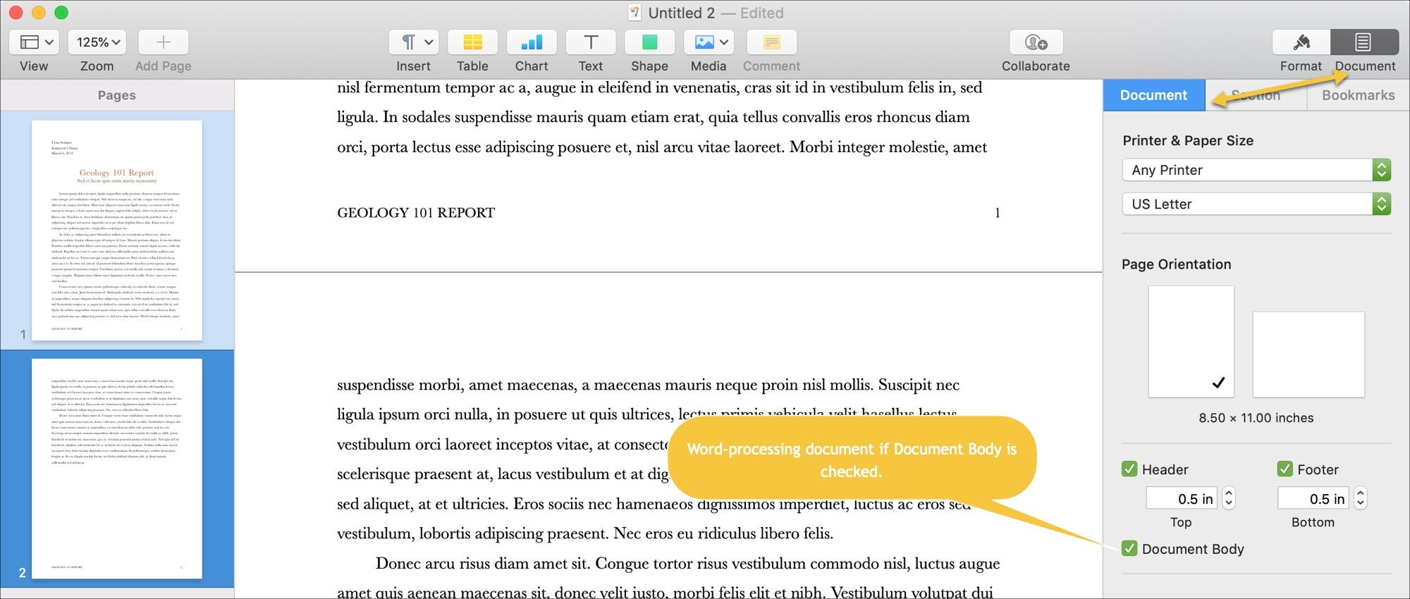 How to add, rearrange, duplicate and delete pages in Pages on Mac