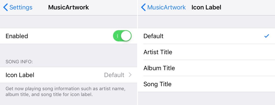 MusicArtwork changes the Music app's icon depending on the