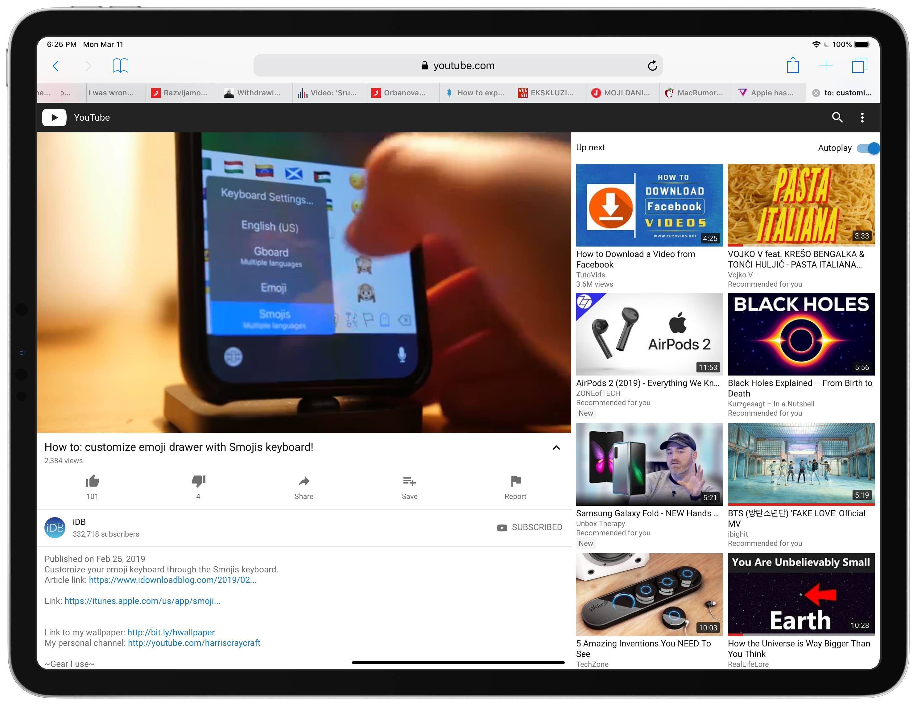 How to enforce Picture in Picture on YouTube in Safari for iPad