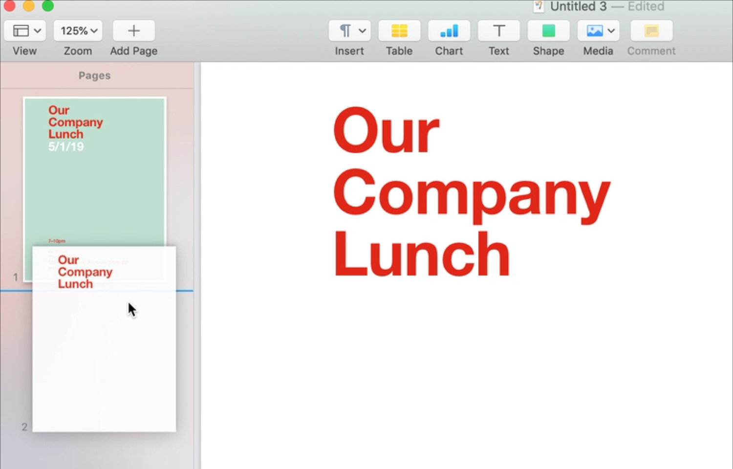 Rearrange Pages in Page Layout Mac