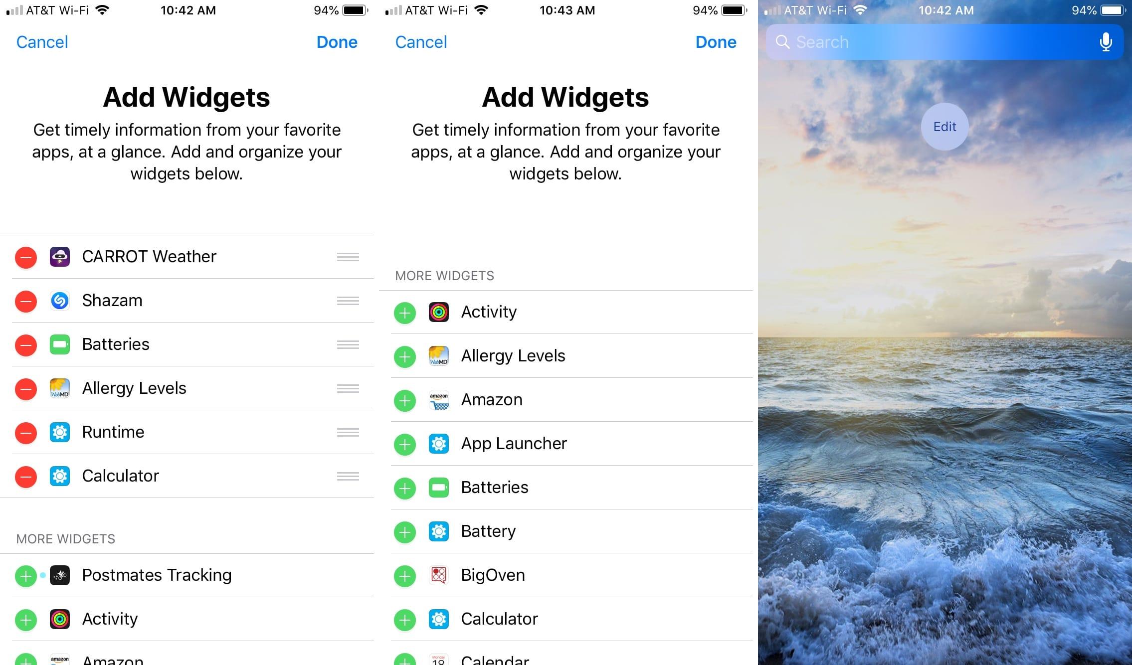 Eliminar todos los widgets de hoy Ver iPhone