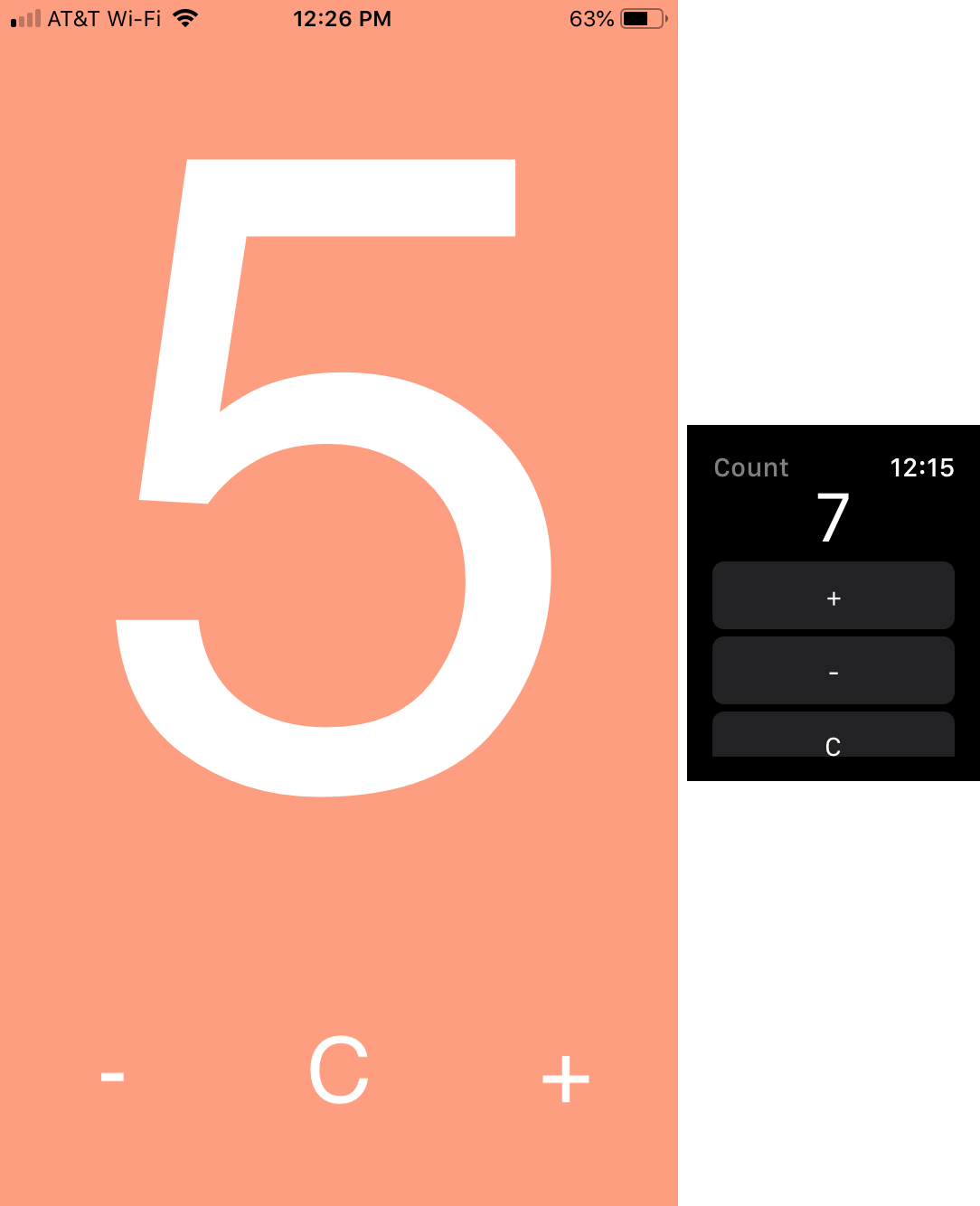 Simply Count app on iPhone and Apple Watch