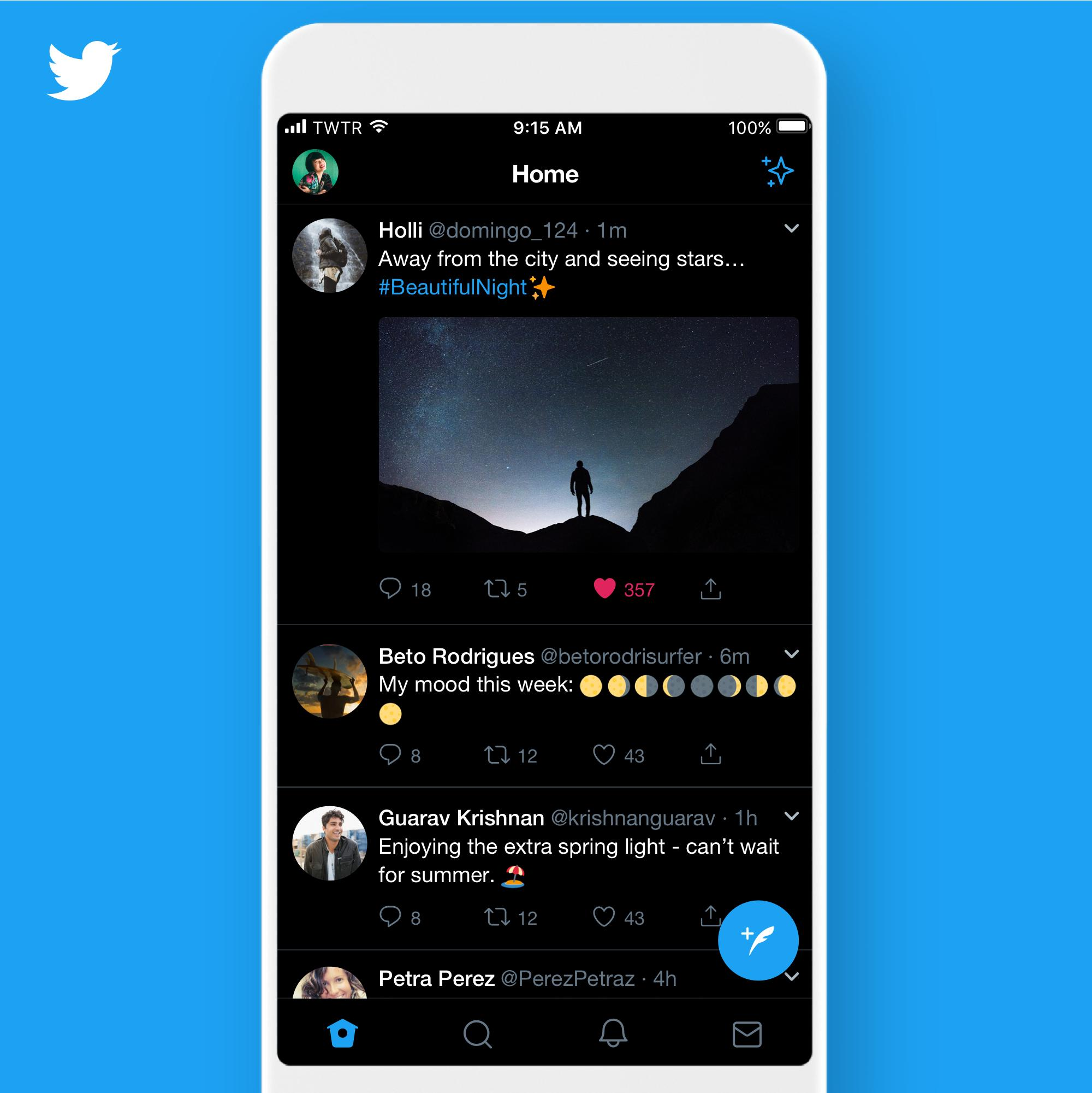Twitter for iOS picks up a pure black theme and automatic Dark Mode