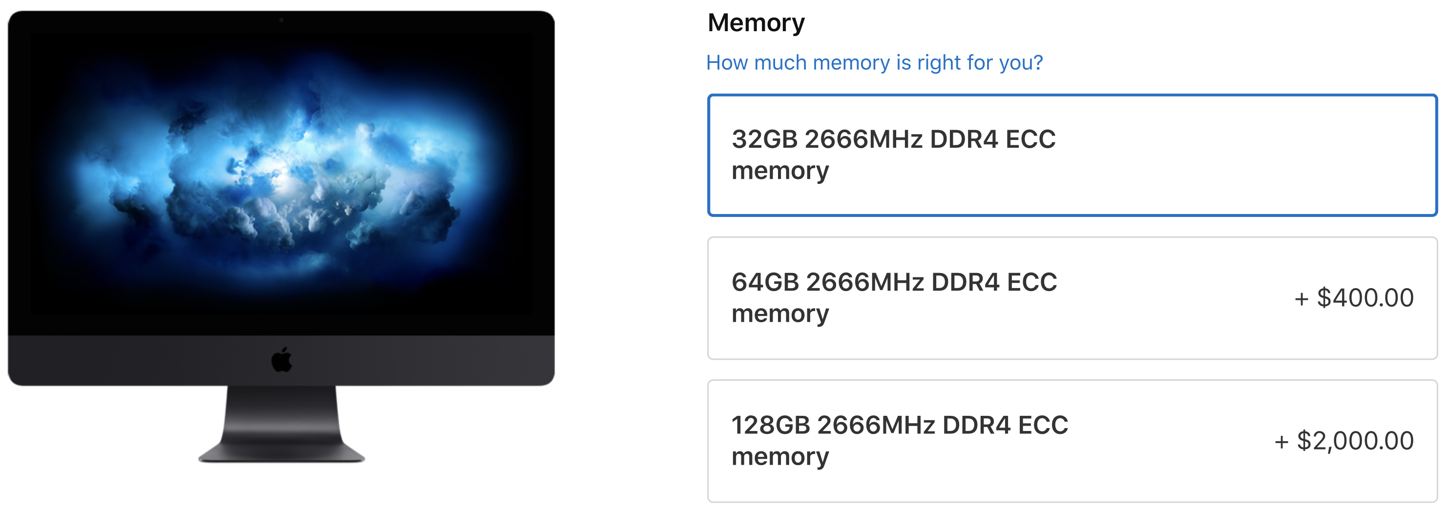 Apple adds 256GB RAM and Radeon Pro Vega 64X graphics options to iMac Pro