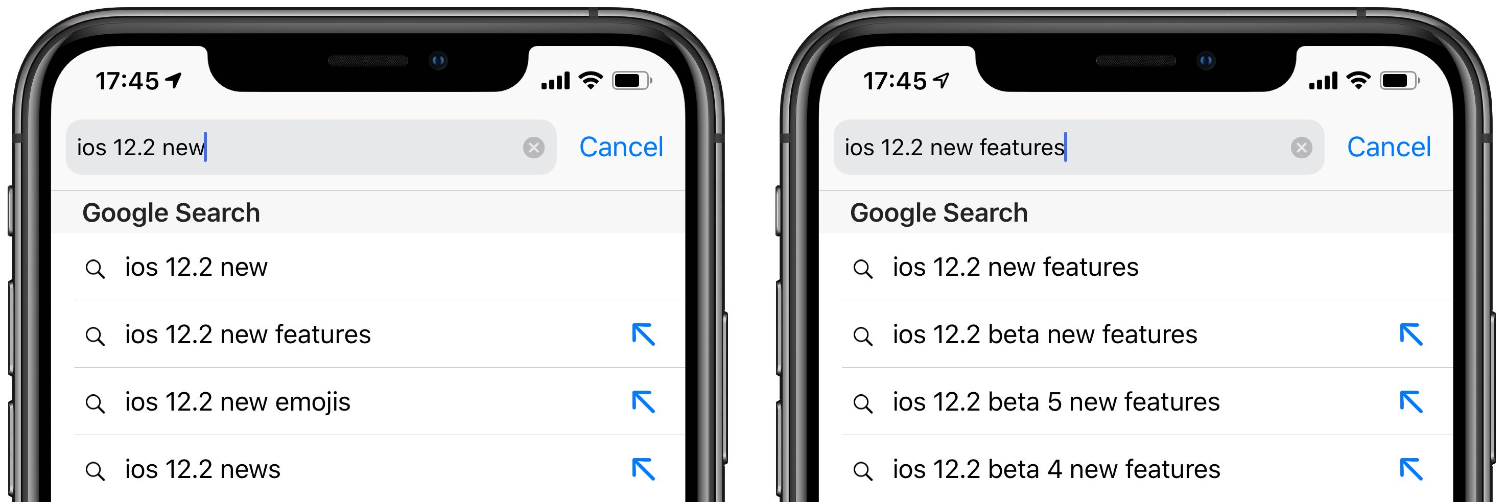 Safari on iOS 12 2 has a new feature for getting to targeted search