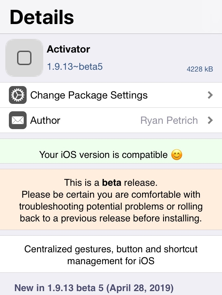 Ryan Petrich updates Activator and other vital tweak