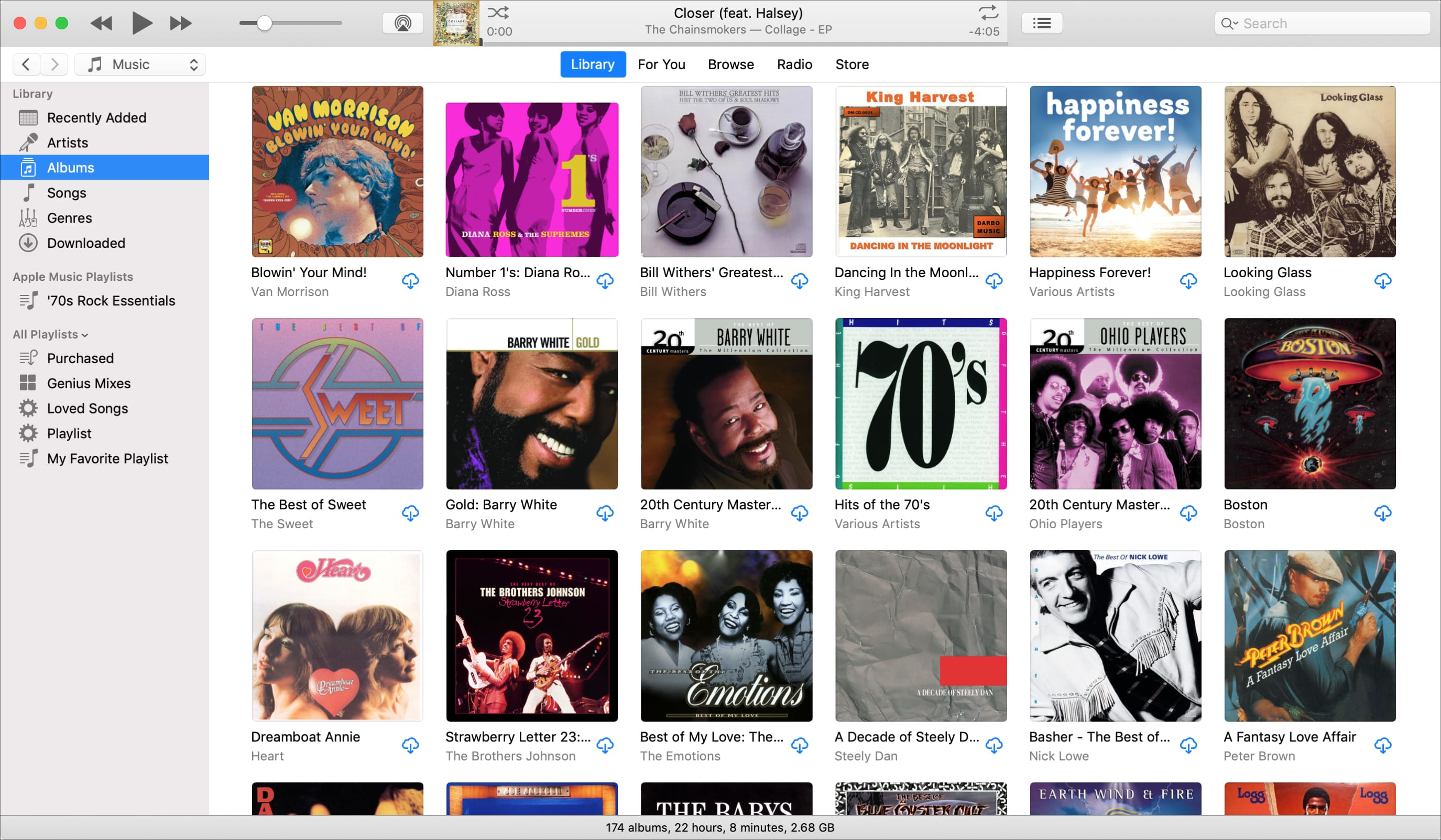 Albums Section in iTunes on Mac