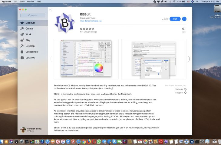 BBEdit returns to Mac App Store following Mojave's relaxed