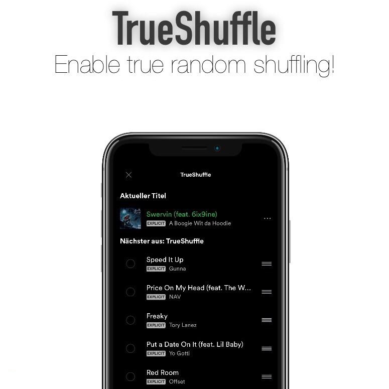 This tweak enables true randomized playback shuffling in Spotify