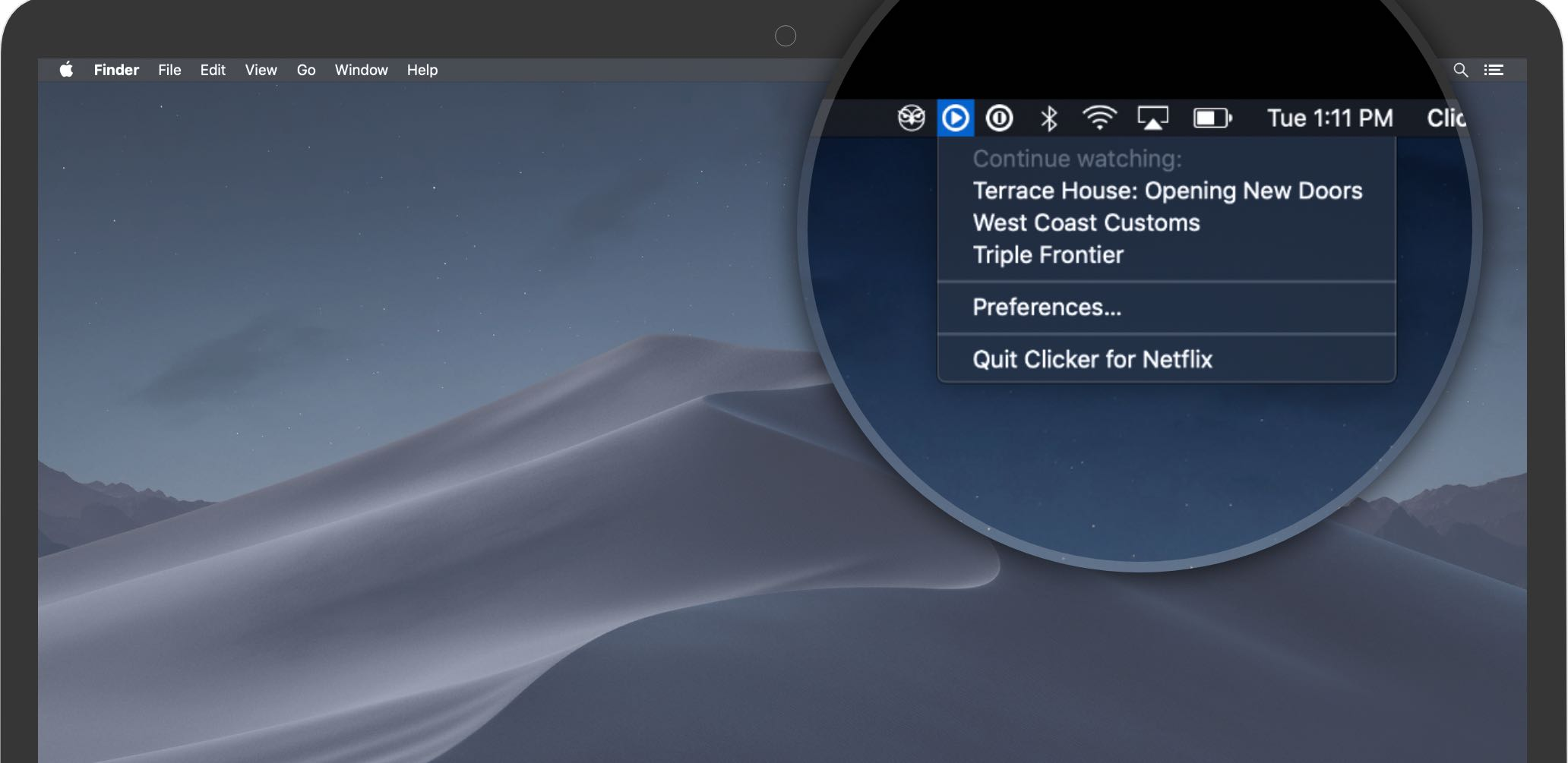 Meet Clicker, a native Netflix player for your Mac with