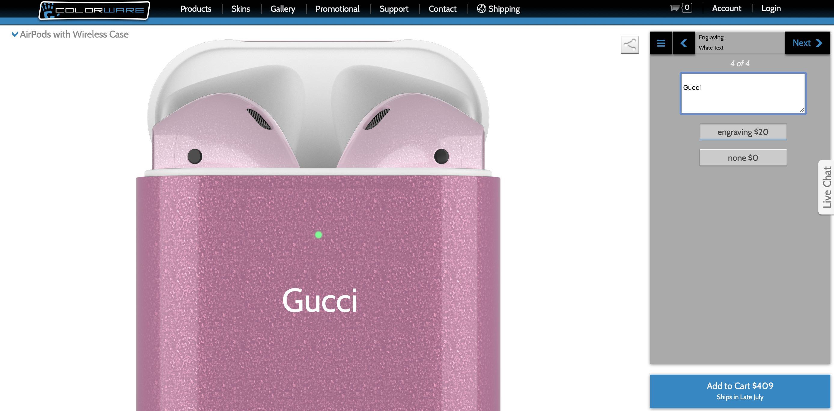 customized airpods case gucci
