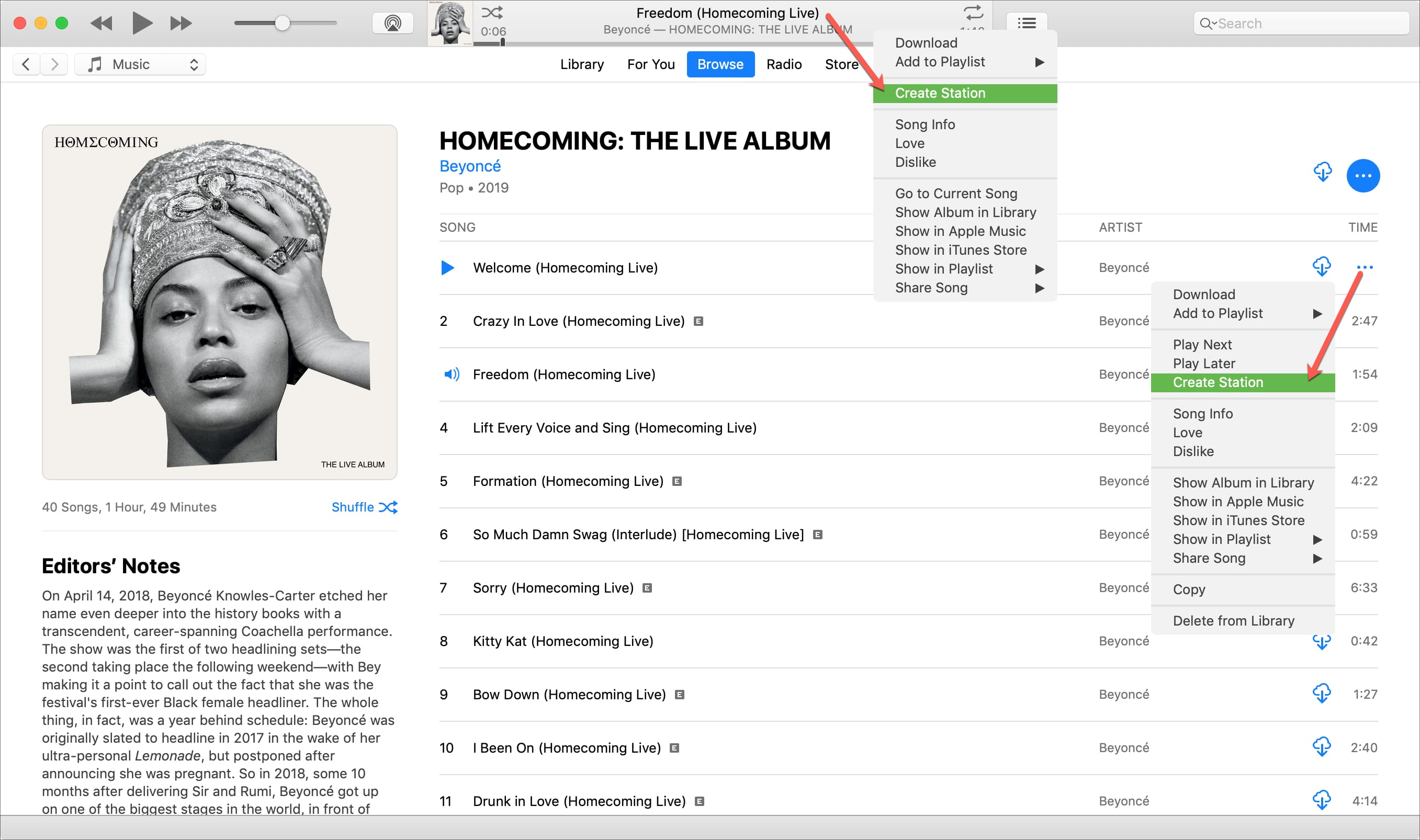 Create Radio Stations iTunes Mac