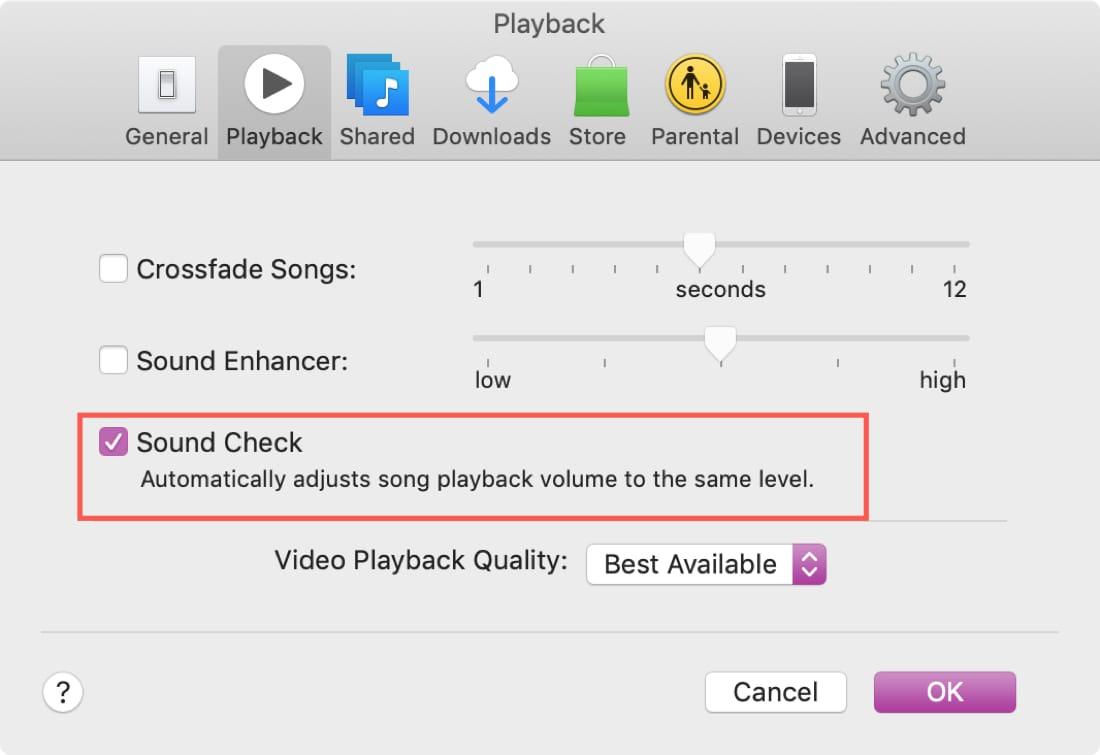 Habilitar la comprobación de sonido en Mac