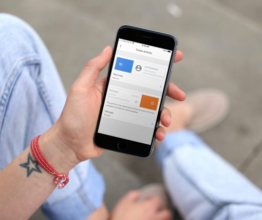 Gmail app Customize Swipe Actions on iPhone
