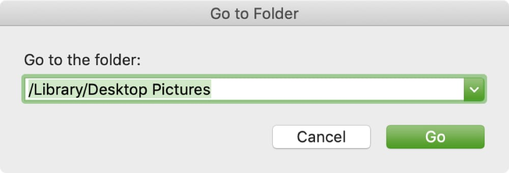 Go To Folder with Path to Desktop Pictures Folder