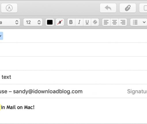 Highlight Text in the Mac Mail app