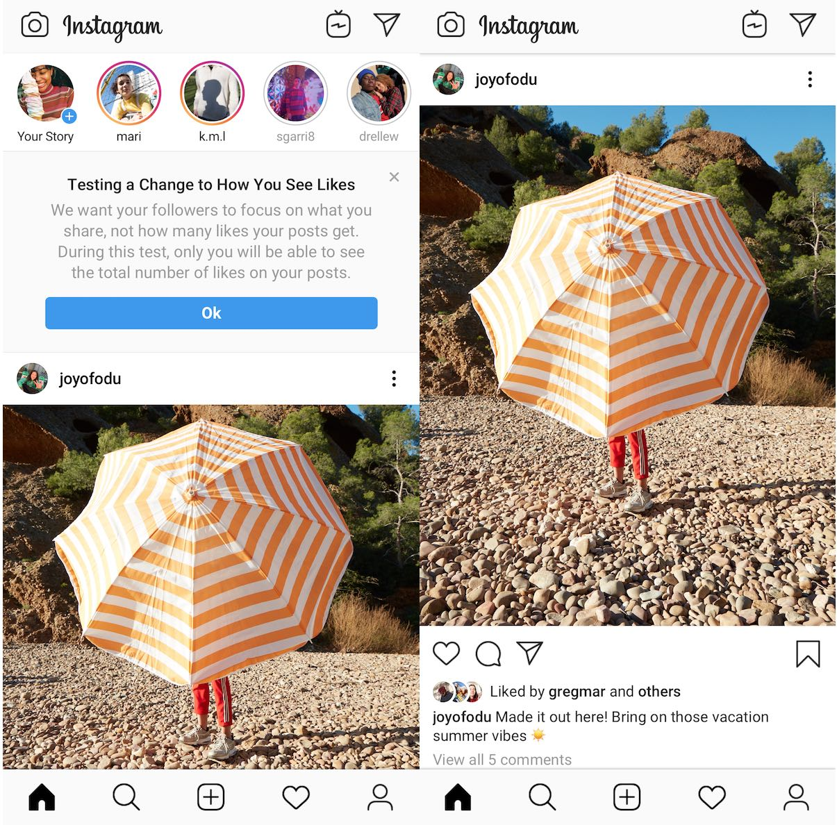 Instagram Testing Removing Likes Publicly
