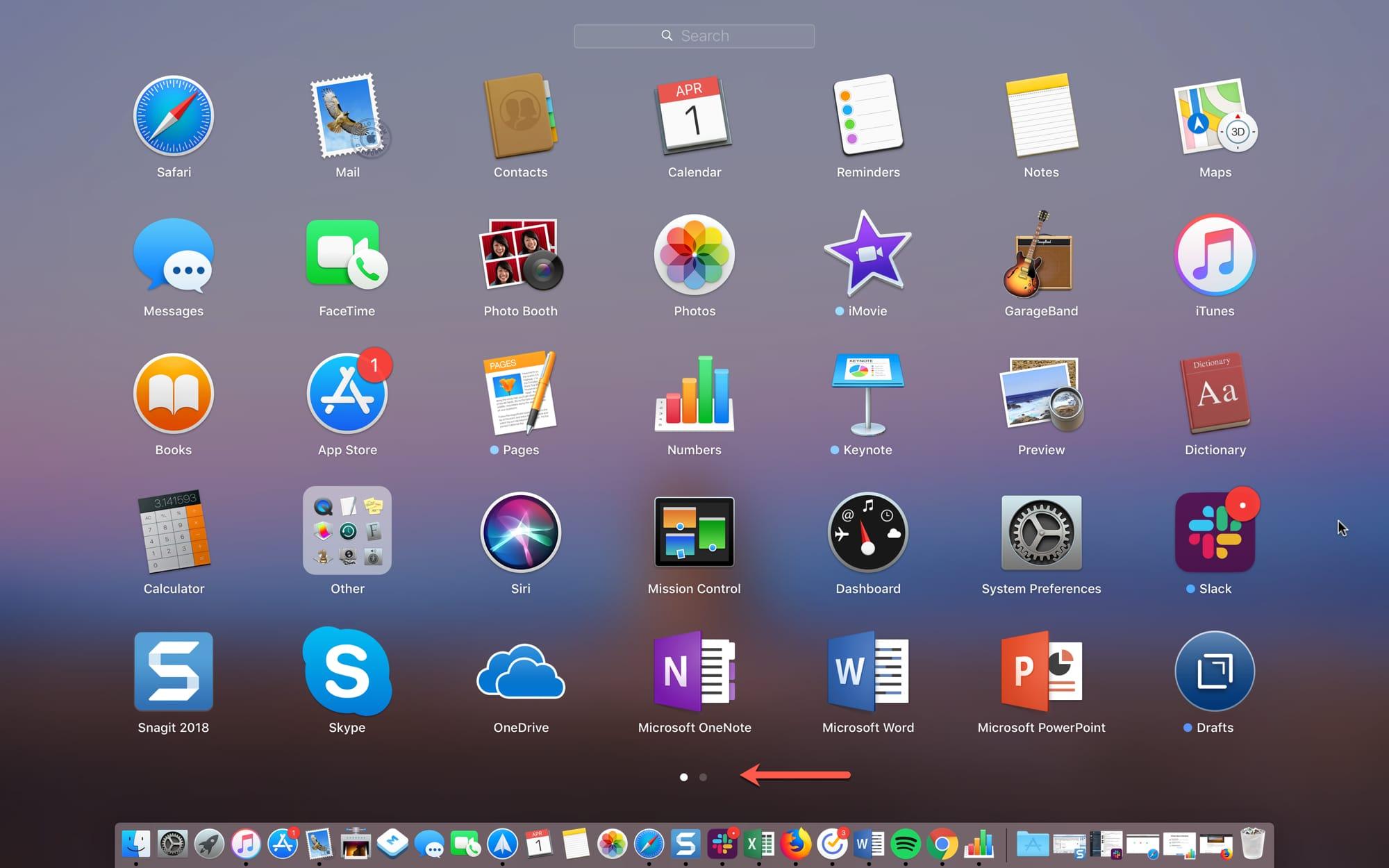 Main Launchpad on Mac