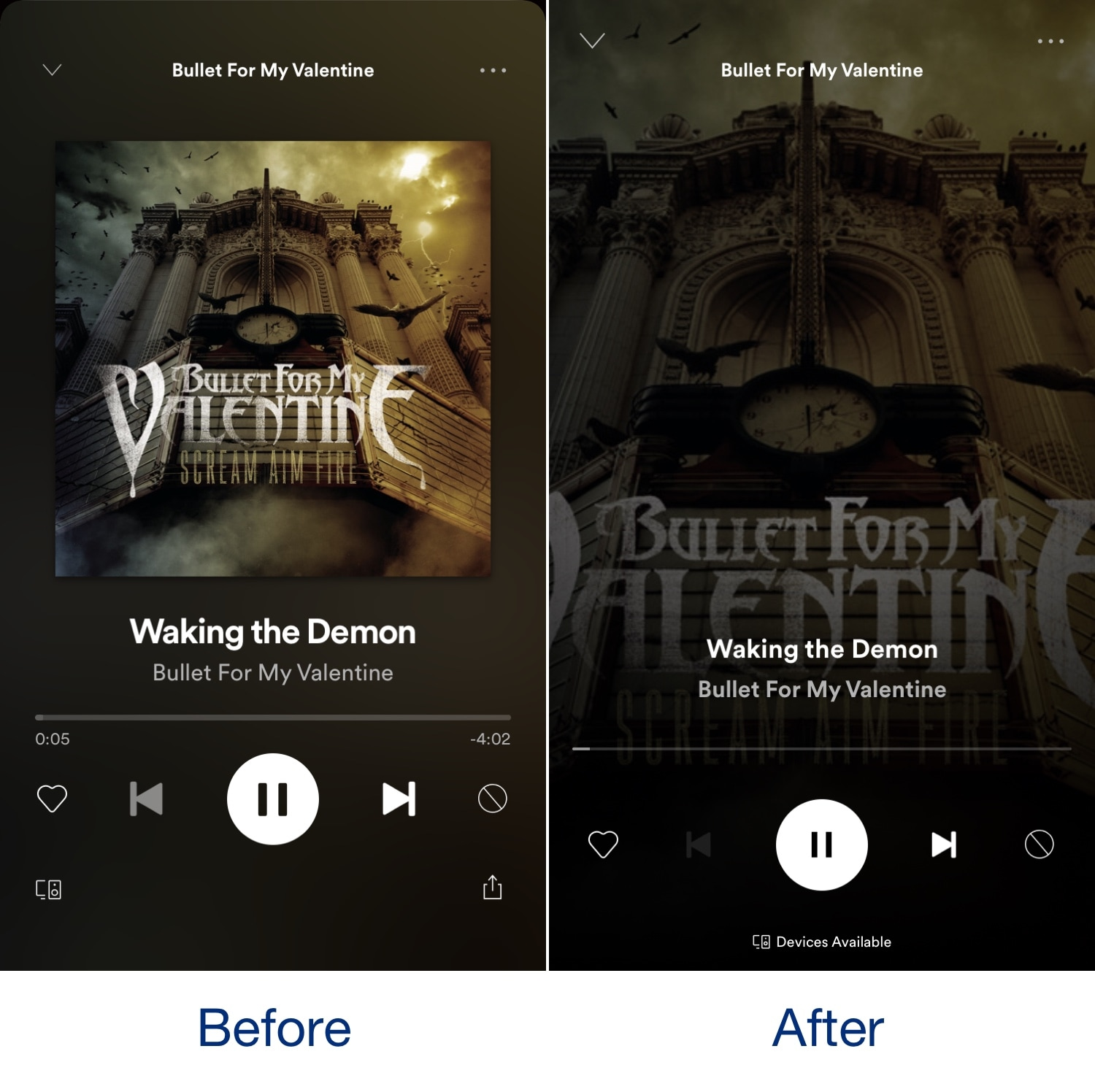 NewNowPlaying gives the Spotify app's Now Playing interface