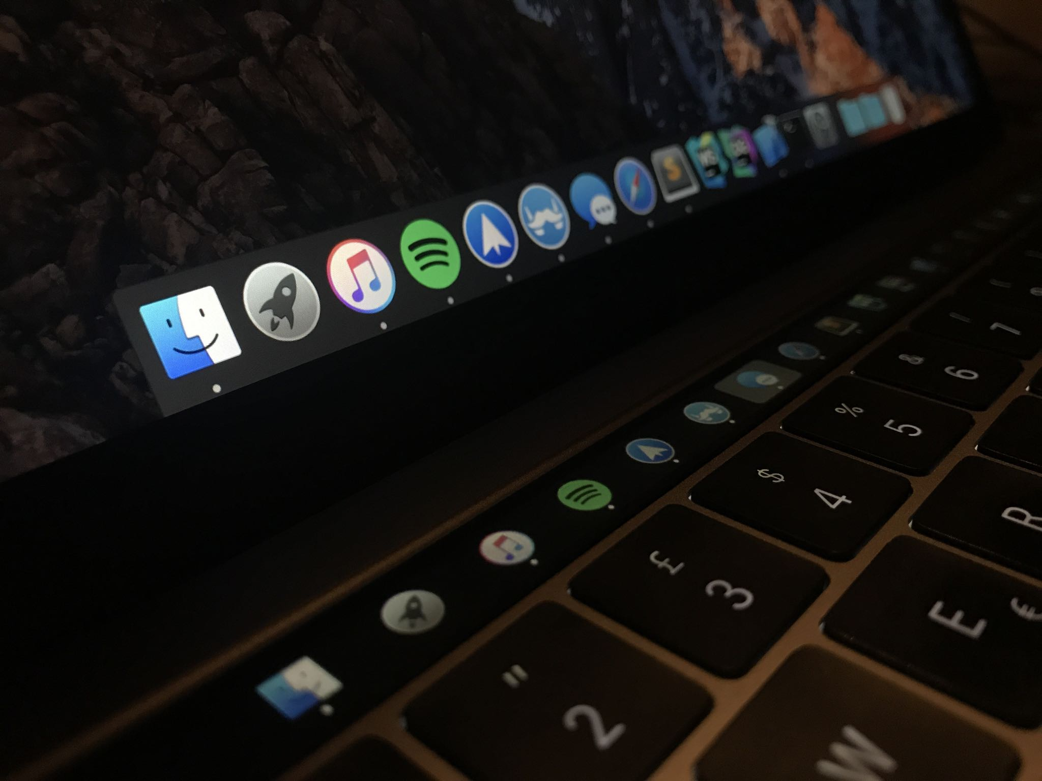 Pock displays the Dock in your Touch Bar