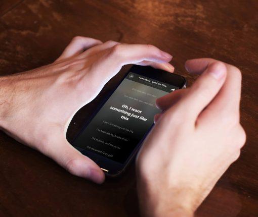 Shazam Real-Time Song Lyrics Scrolling