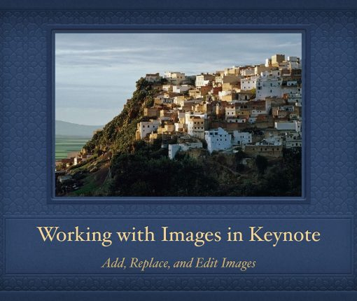 Working with Keynote Images on Mac