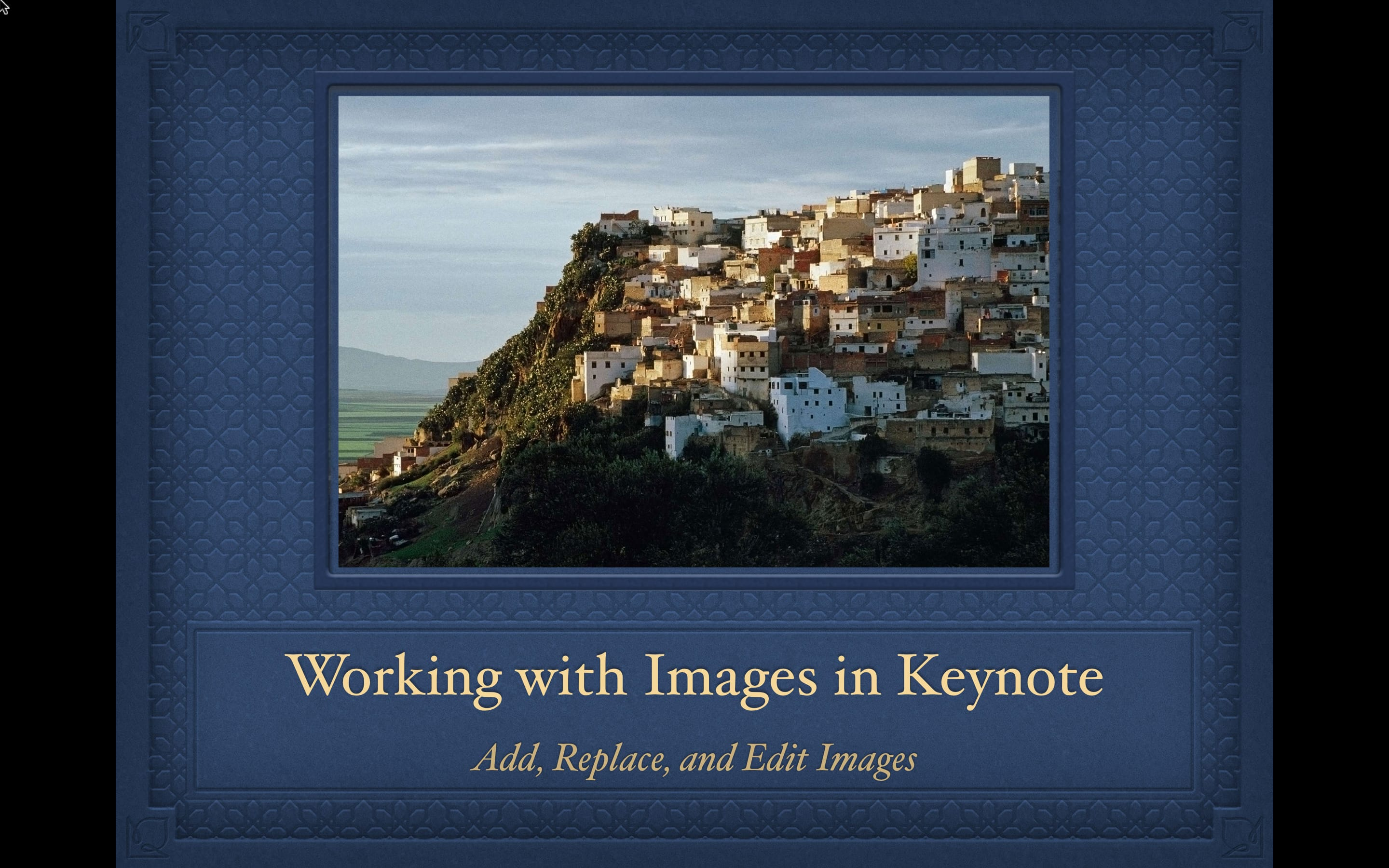 How to work with images in Keynote presentations on Mac